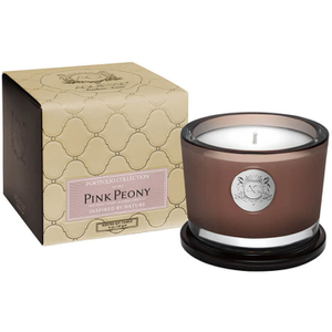 Aquiesse Small Glass Jar Candle - Pink Peony