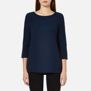 Selected Femme Women's Finca 3/4 Sleeve Top - Dark Navy Melange
