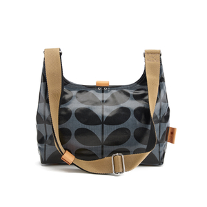 Orla Kiely Women's Linear Stem Print Laminated Mini Sling Bag - Midnight