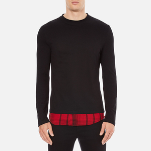 McQ Alexander McQueen Men's Recycled T-Shirt - Dark Black/Red Tartan