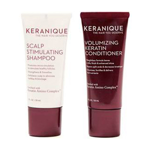 Keranique Volumizing Keratin Shampoo and Conditioner Travel Size - FREE Gift