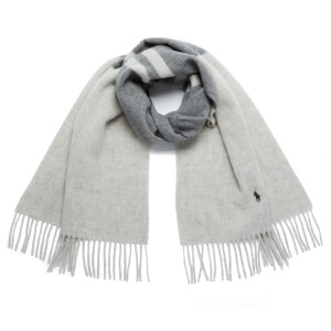 Polo Ralph Lauren Women's Saddle Stripe Scarf - Antique Heather