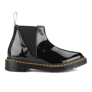 Dr. Martens Women's Bianca Patent Lamper Low Zip Shaft Chelsea Boots - Black