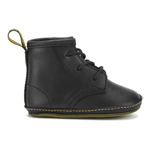 Dr. Martens Baby Auburn Crib Lace Booties - Black
