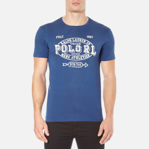 Polo Ralph Lauren Men's Short Sleeve Crew Neck Printed T-Shirt - Club Royal