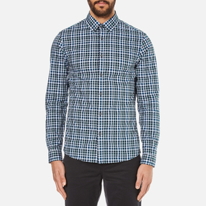 Michael Kors Men's Slim Fit Romeo Long Sleeve Shirt - Pine