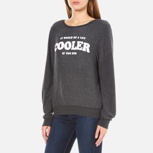 Wildfox Women's Cooler Baggy Beach Sweatshirt - Black