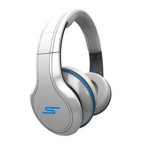 SMS Audio by 50 Cent: Street Over Ear Headphones (Passive Noise Cancellation) - White