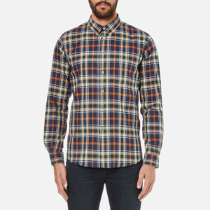 PS by Paul Smith Men's Checked Long Sleeve Shirt - Navy