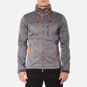 Superdry Men's Windtrekker Coat - Dark Grey Grit/Fluro Orange
