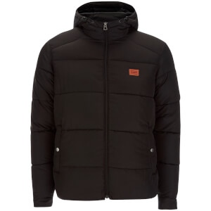 Jack & Jones Men's Originals Nice Hooded Puffer Jacket - Black