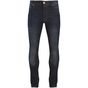 Brave Soul Men's Tom Slim Fit Jeans - Dark Blue Wash
