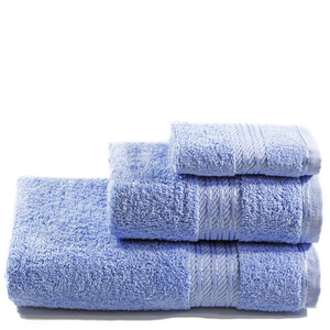 Restmor 100% Egyptian Cotton 3 Piece Towel Bale - Cobalt