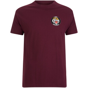 Rum Knuckles Men's Tiger T-Shirt - Burgundy