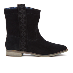 TOMS Women's Laurel Suede Pull On Slouch Boots - Black
