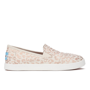 TOMS Kids' Avalon Slip-On Trainers - Natural Cheetah Foil