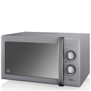Swan SM22070GRN 25L Retro Manual Microwave - Grey