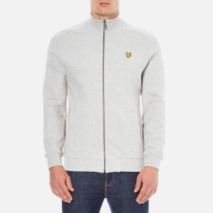 Lyle & Scott Men's Funnel Neck Zip Through Sweatshirt - Light Grey Marl