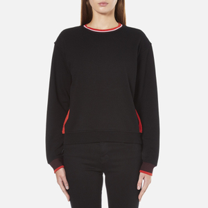 McQ Alexander McQueen Women's Cropped Sweatshirt - Darkest Black