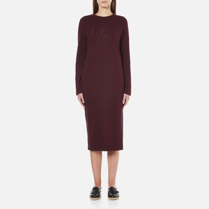 McQ Alexander McQueen Women's Side Slit Sweater Dress - Port
