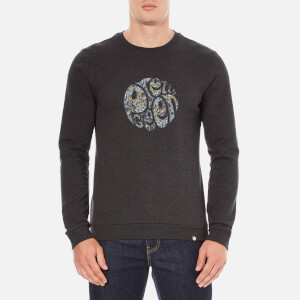 Pretty Green Men's Stretford Applique Sweatshirt - Grey