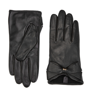 Ted Baker Women's Lynna Large Bow Leather Gloves - Black