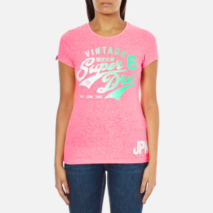 Superdry Women's Stacker T-Shirt - Snowy Paradise Pink