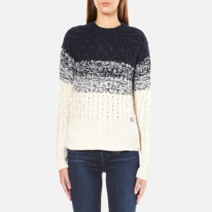 Superdry Women's Ombre Honeycomb Knitted Jumper - Black/Cream
