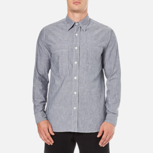 Nigel Cabourn Men's Denim Chambray Workers Shirt - Indigo