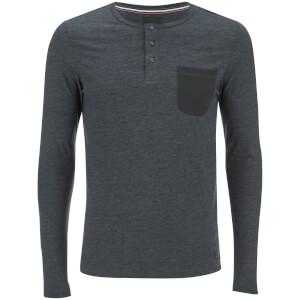 Produkt Men's Contrast Pocket Long Sleeve Top - Black Navy Melange