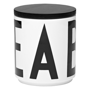 Design Letters Multi Jar With Black Lid
