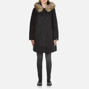 French Connection Women's Cocoon Cotton Longline Parka - Black