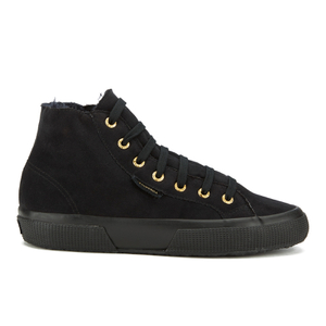 Superga Women's 2795 Syntshearlingw Hi-Top Trainers - Full Black