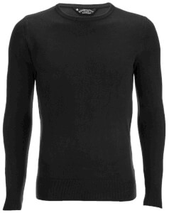 Kensington Eastside Men's Balint Crew Neck Jumper - Black