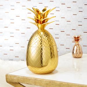 Pineapple Ice Bucket/Storage Pot - Matt Brass