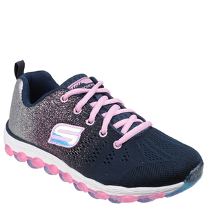 Skechers Kids' Skech Air Trainers - Navy/Pink