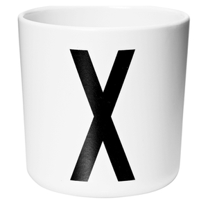 Design Letters Kids' Collection Melamin Cup - White - X
