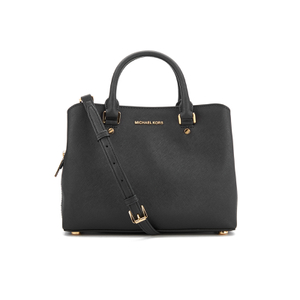 MICHAEL MICHAEL KORS Women's Savannah Mid Satchel - Black
