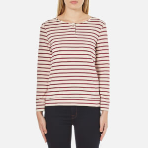A.P.C. Women's Veronica Stripe Long Sleeve Top - Red