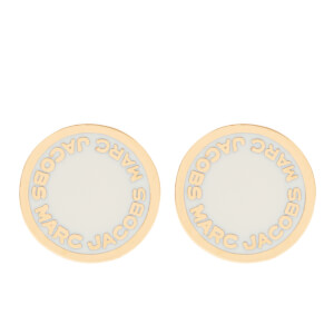 Marc Jacobs Women's Enamel Logo Disc Stud Earrings - Cream
