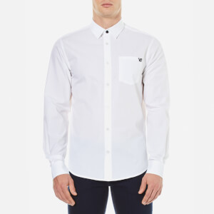 Versace Jeans Men's Small Logo Long Sleeve Shirt - Bianco