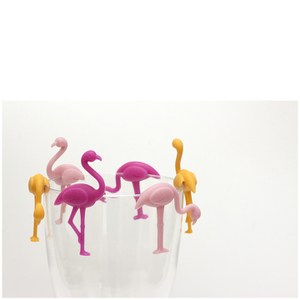 Flamingo Glass Charms