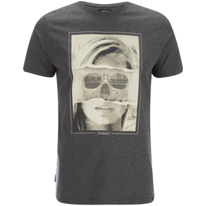 Animal Men's Faced T-Shirt - Dark Charcoal Marl