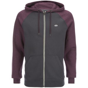 Animal Men's Jump Raglan Zip Through Hoody - Mauve Purple Marl