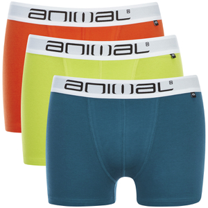 Animal Men's Block 3 Pack Boxers - Multi