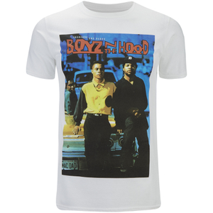 Boys In The Hood Men's Poster T-Shirt - White
