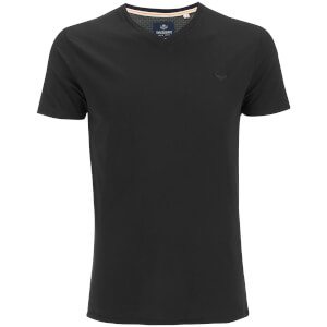 Threadbare Men's Charlie Plain V-Neck T-Shirt - Black