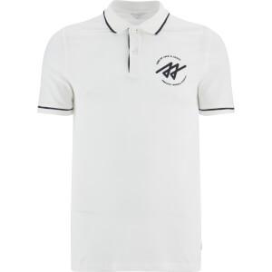 Jack & Jones Men's Core Reverse Tipped Polo Shirt - Blanc De Blanc