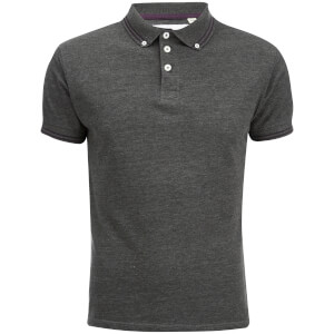 Soul Star Men's Ralling Polo Shirt - Charcoal Melange