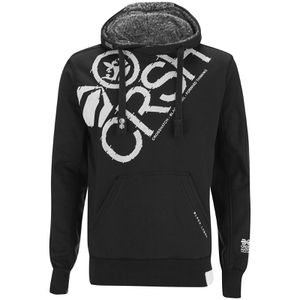 Crosshatch Men's Flashpoint Borg Lined Pull On Hoody - Black